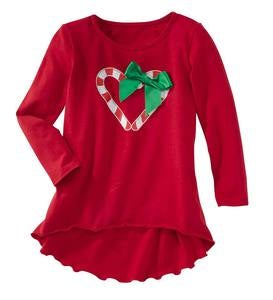 Heart Candy Cane Tunic - Red - 4