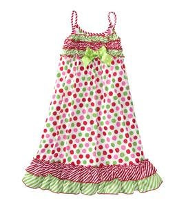 Christmas Dot Gown - Multi - 8