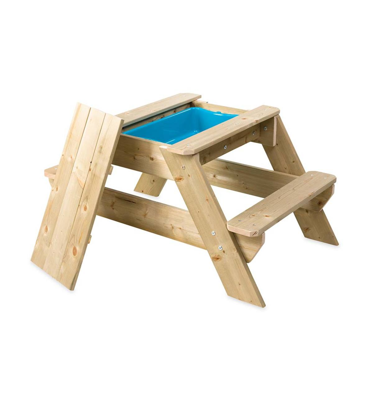 Groovy Wooden Picnic Table And Sandpit Hearthsong Pabps2019 Chair Design Images Pabps2019Com