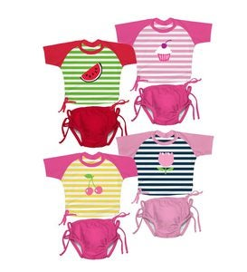 UPF 50+ Girls' Sun Suit 2-Piece Set
