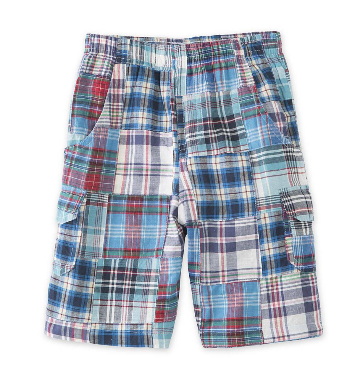 Long Plaid Cargo Shorts - MLT - 8