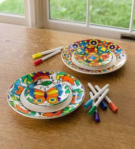 Color Pops Color-Your-Own Plates