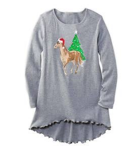 Holiday Horse High Low Tunic