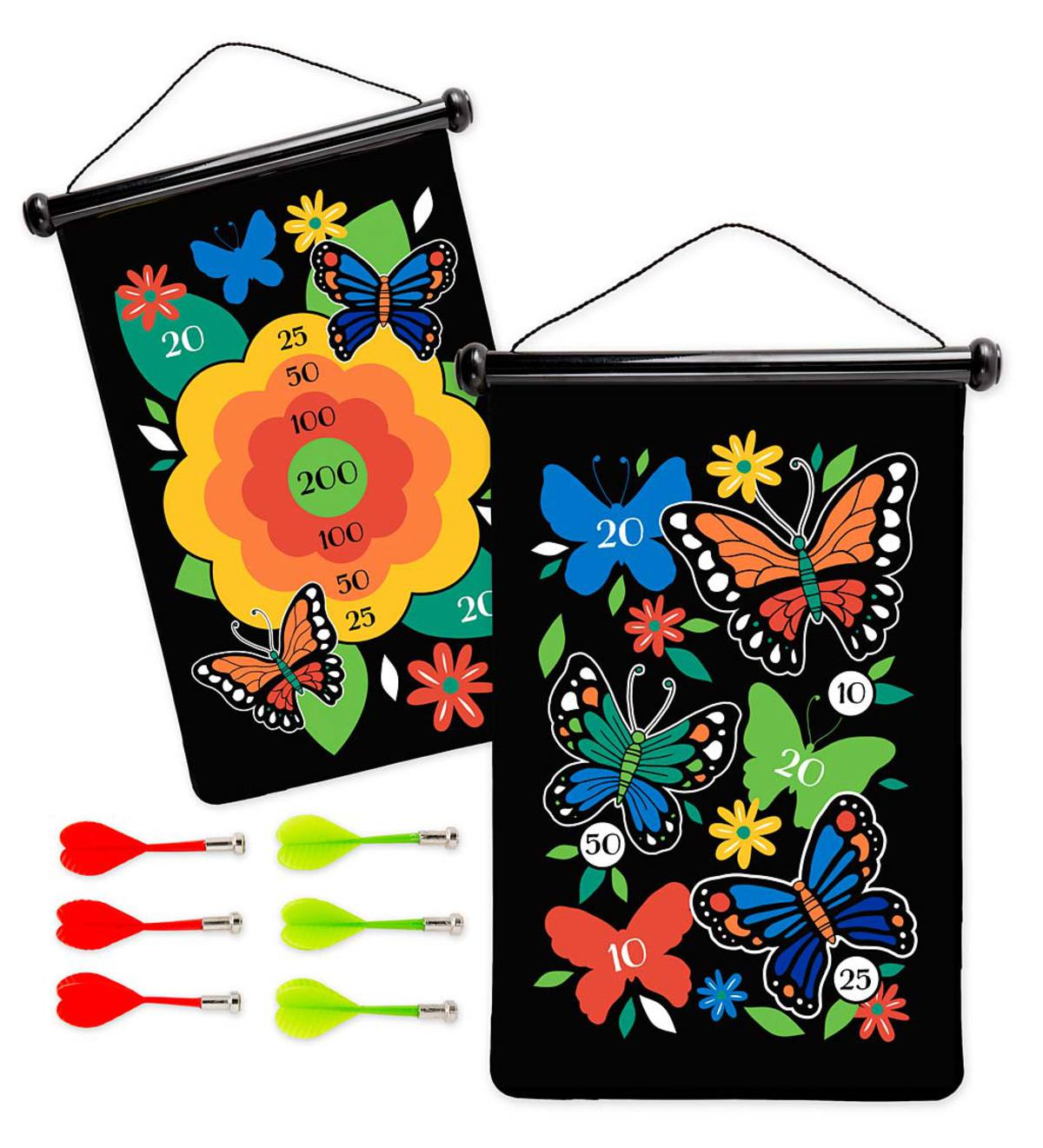 Double-Sided Magnetic Target Game - Butterfly