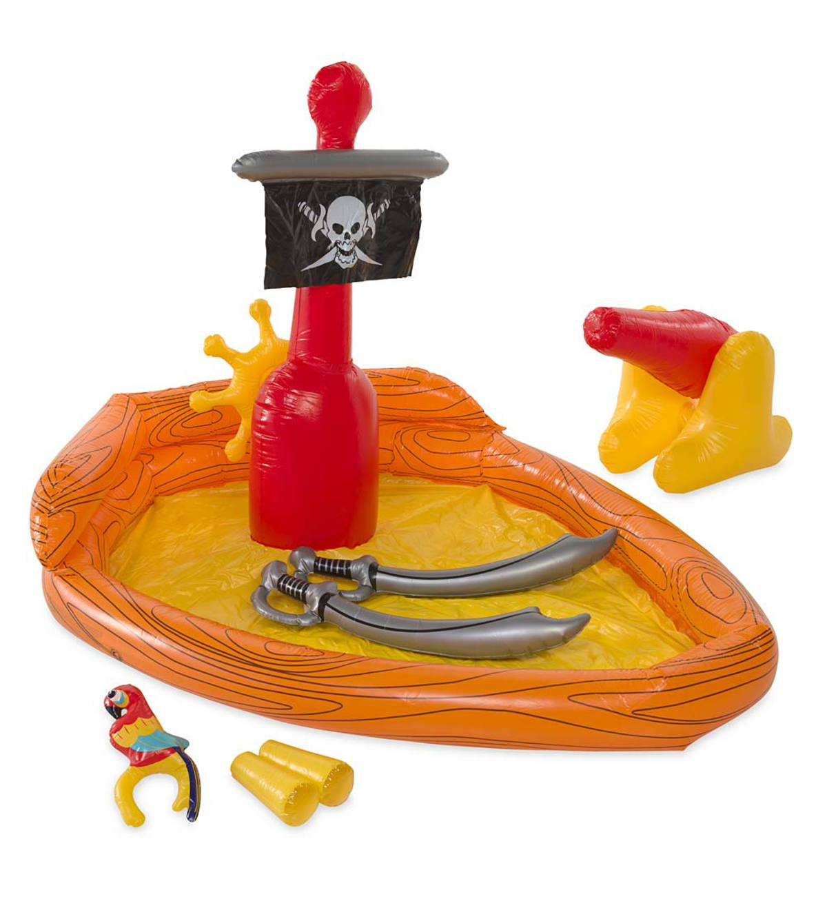 Inflatable Pirate-Ship Water-Play Center