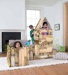 16-Piece Cabin Build-A-Fort Kit