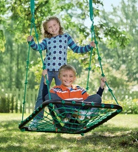 Deluxe Platform Tree Swing with Nylon Rope and Padded Steel Frame