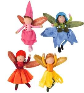 Posable Halfpenny Blooming Fairies Set