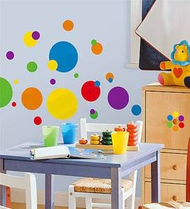 Set of 31 Lots of Dots Wall Stickers
