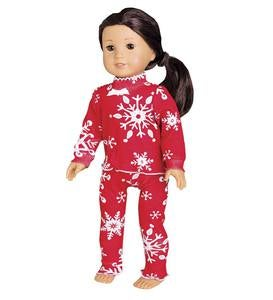 Snowflake Pajamas - Red - 3