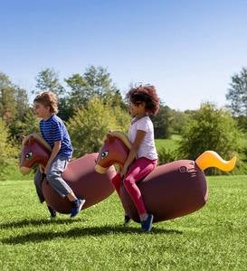 Inflatable Ride-On Hop 'n Go Horses, Set of 2