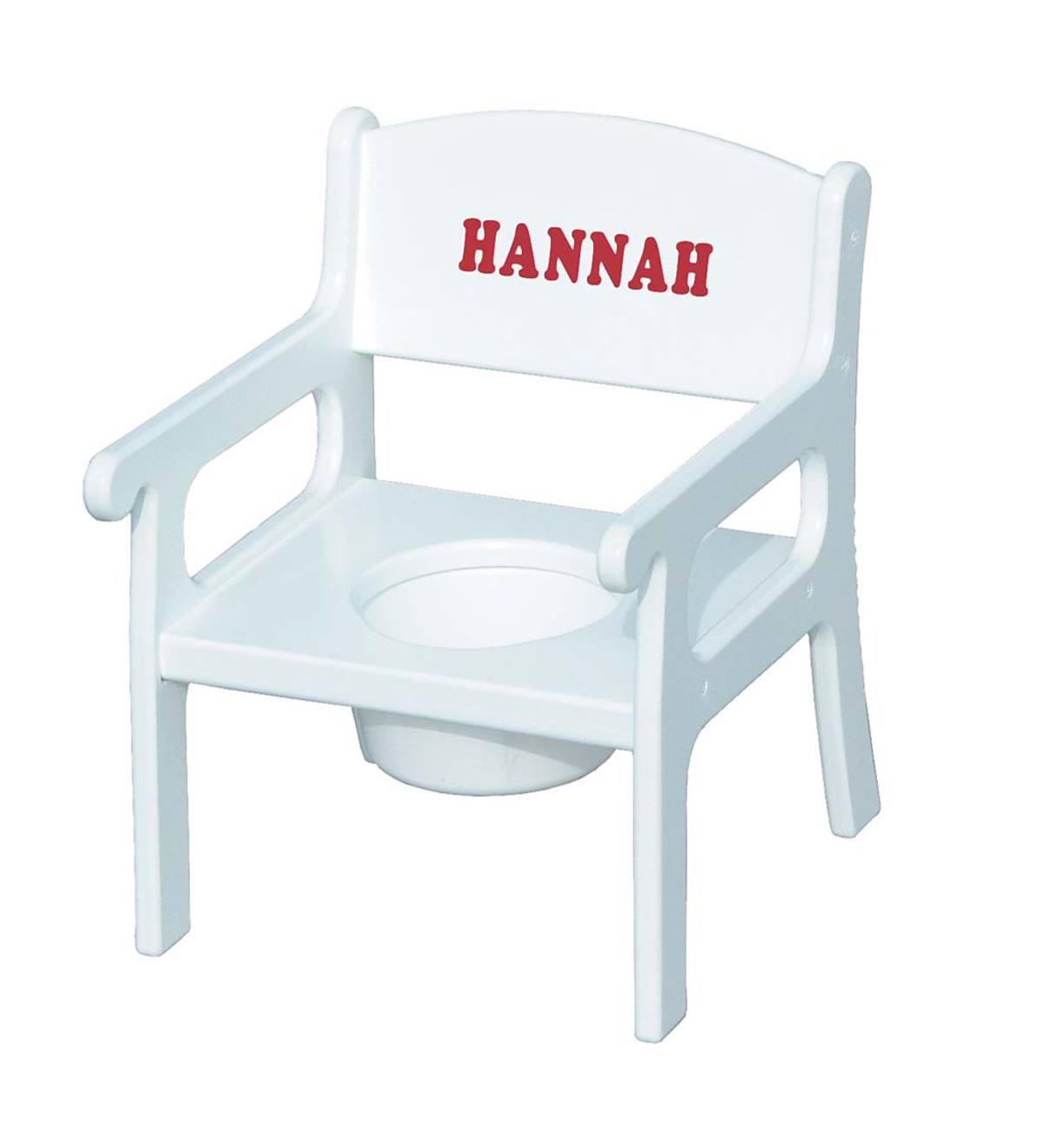 Personalized Child Potty Chair - White-Red Lettering