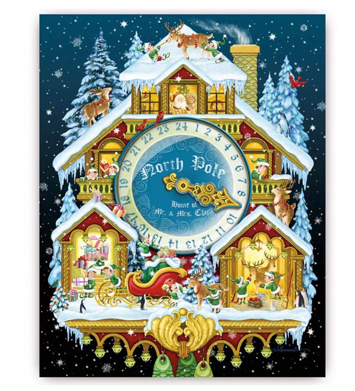 Christmas Cuckoo Clock Advent Calendar