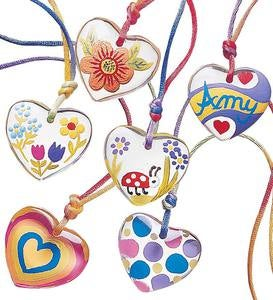 Color-My-Heart® Pendant Necklace Craft Kit—Set of Six