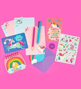Unique Unicorns On-The-Go Stationery Set