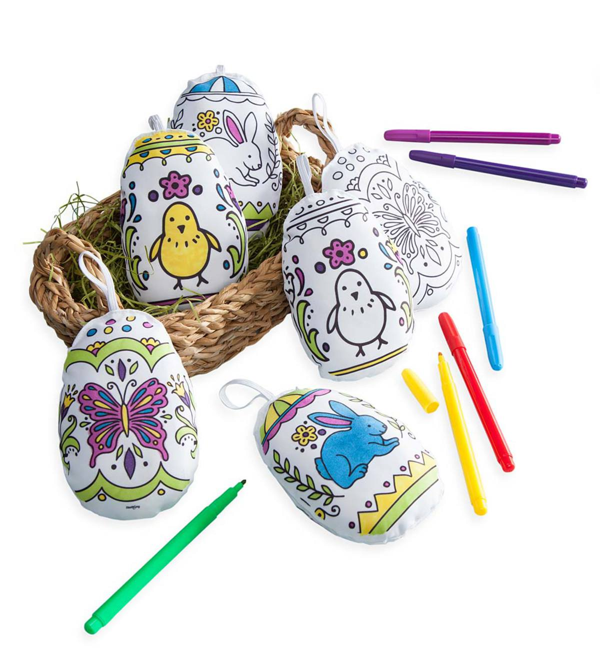 Color Pops® Color-Your-Own Soft Fabric Eggs (set of 6)