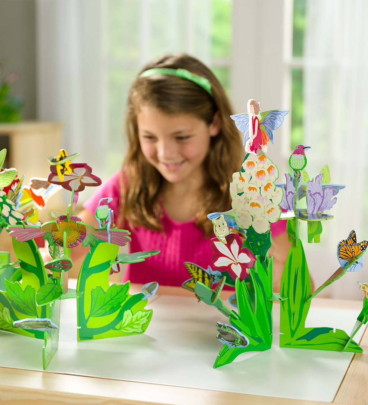 3-D Fairy and Flowers Connectagons®