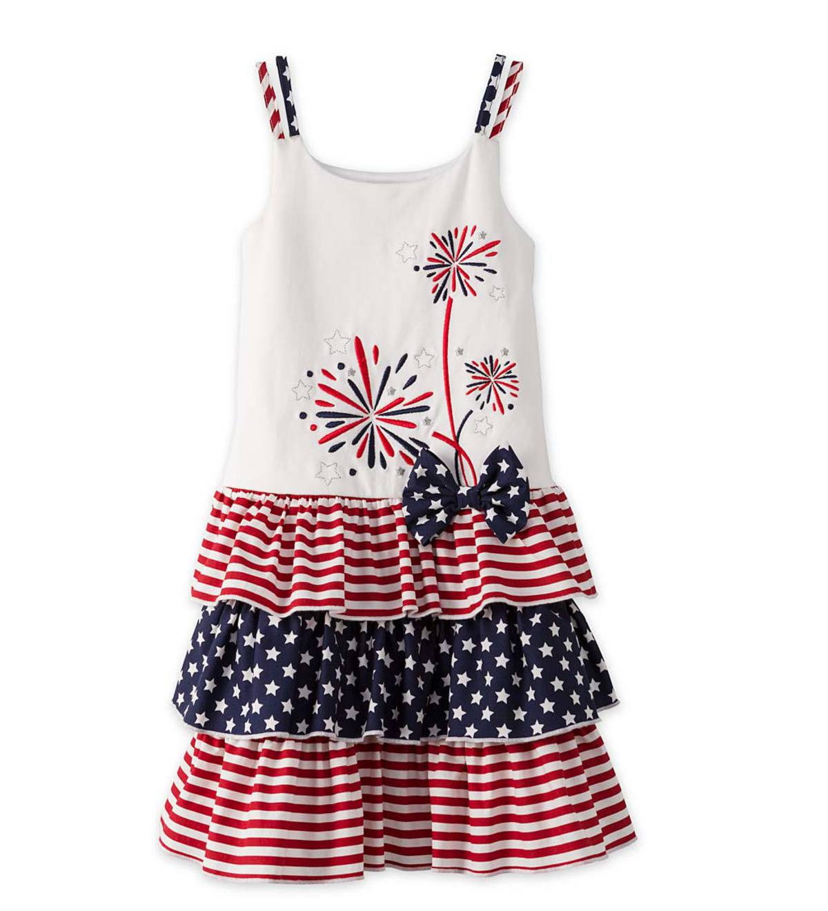 Fireworks Tiered Dress - Navy - 2T