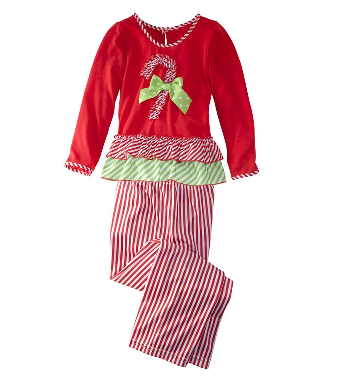 Stripe Candy Cane Pajamas - Multi - 5
