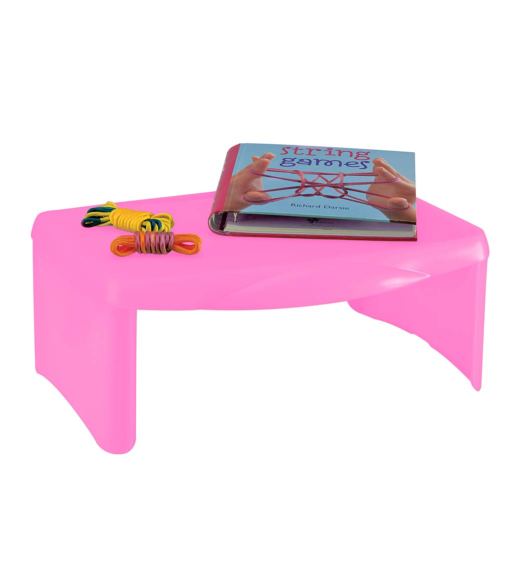 Portable Folding Lap Desk With Storage Activity Tray