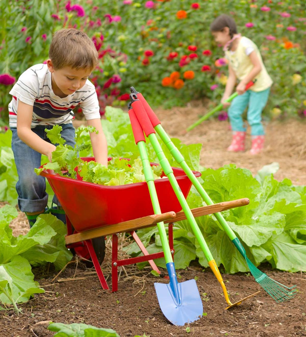Grow With Me® Garden Tool Set and Child's Wheelbarrow