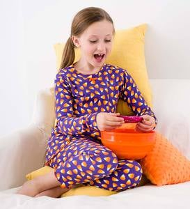 Candy Corn Pajamas Set