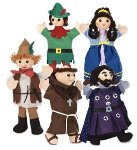 Set of 5 Costumed Puppets Special - Royal Family