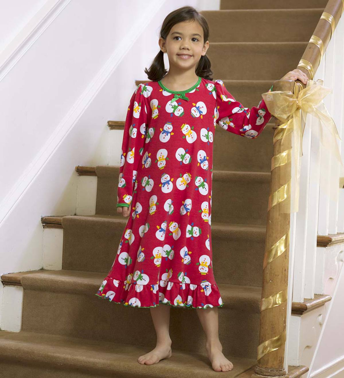 Snowman Gown - Red - 7