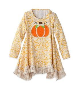 Pumpkins and Lace Tunic Set - Orange - 7