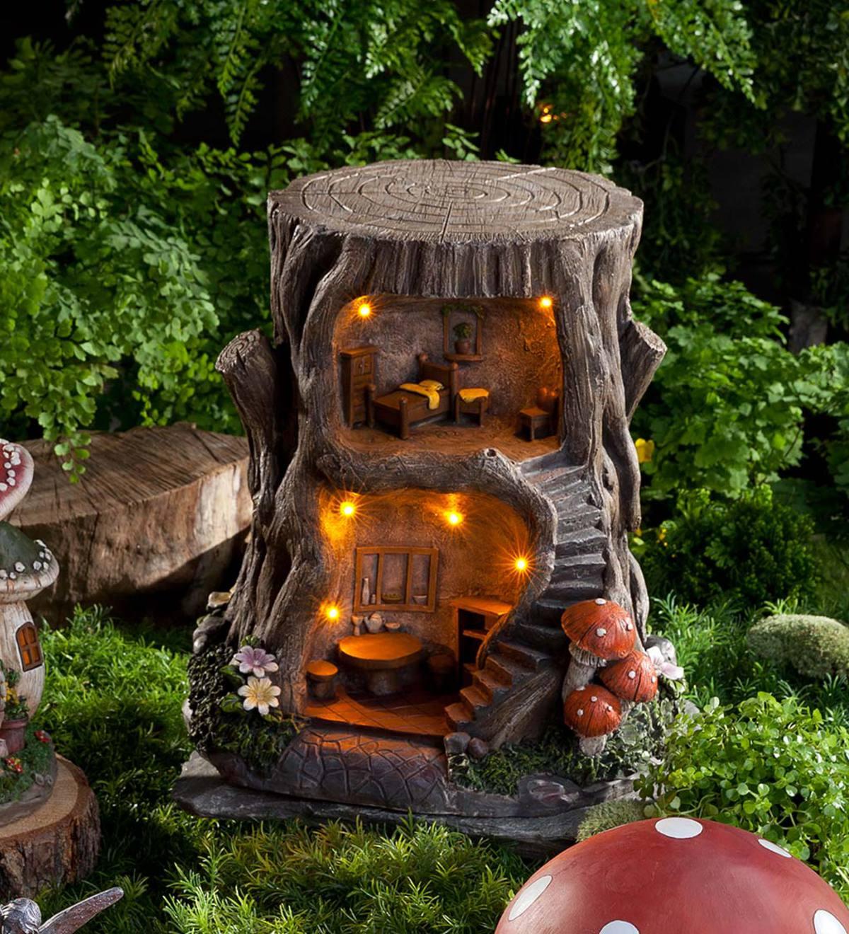 Lighted Fully-Furnished Fairy Dream House