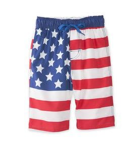 American Flag Swim Trunks - MLT - 3T