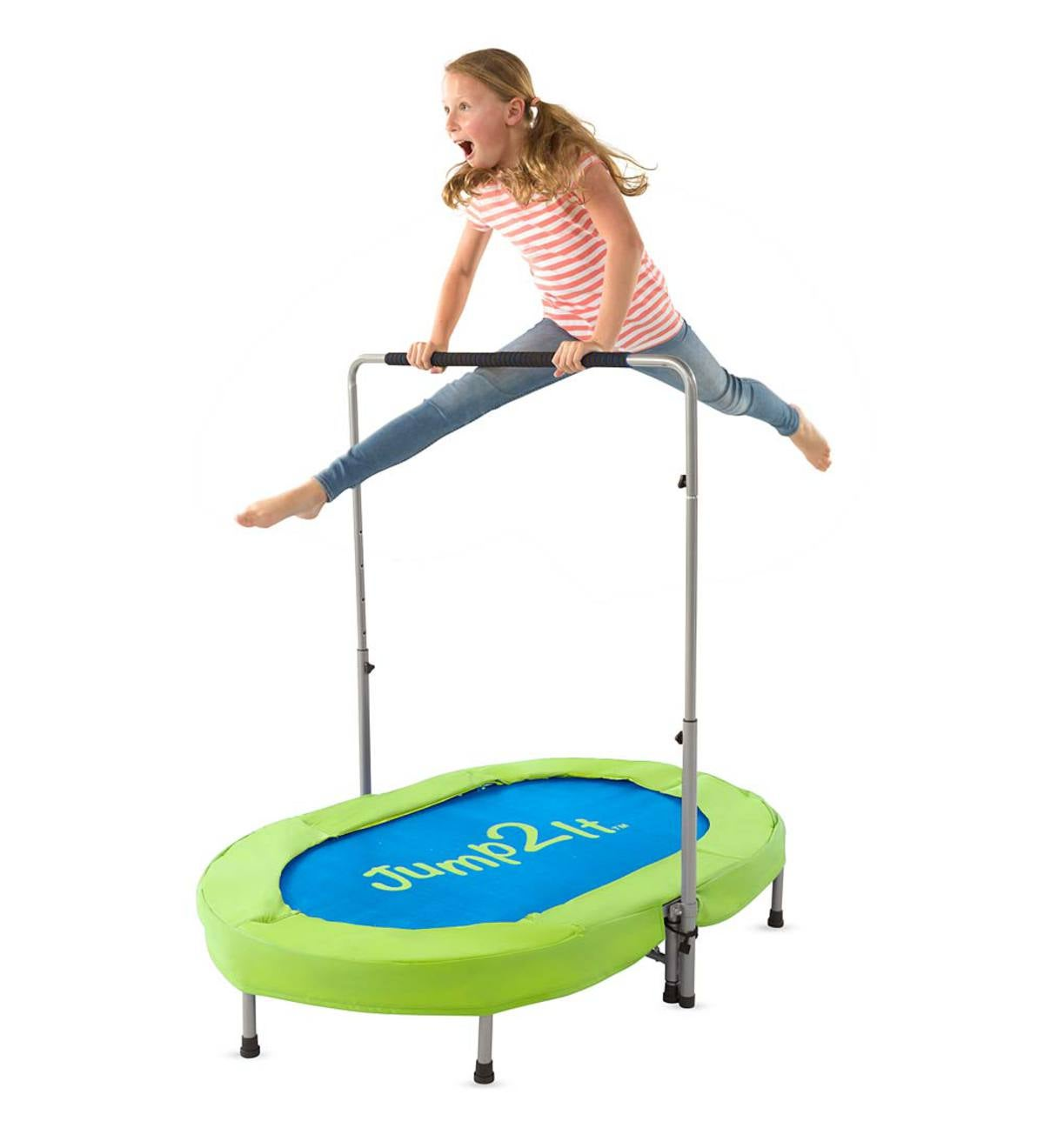 Jump2It® Adjustable Trampoline - Blue&Green