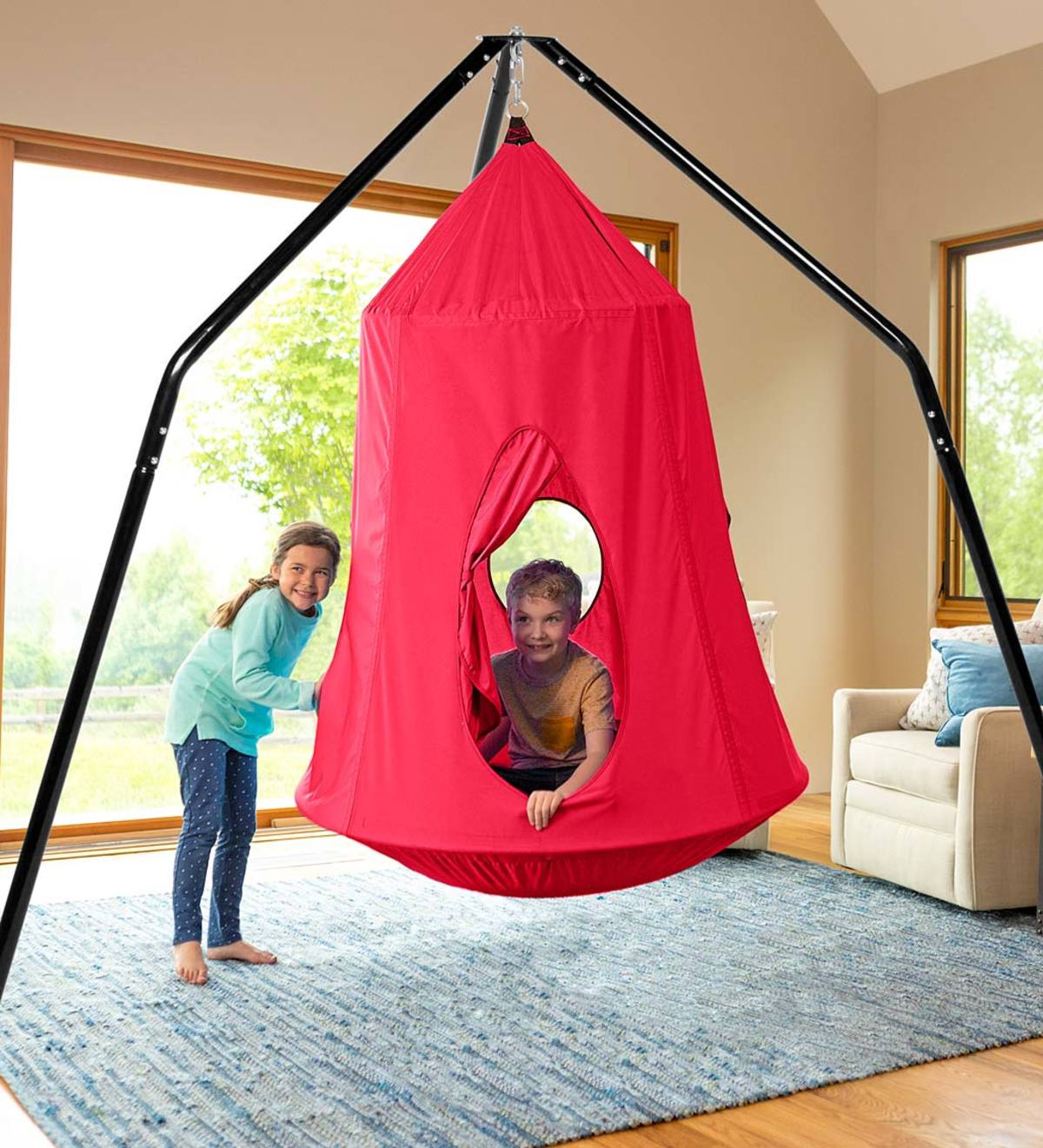 HugglePod HangOut Indoor/Outdoor Hanging Chair and Family HangOut Stand Special