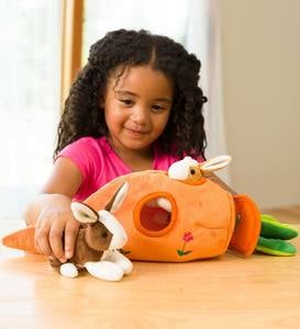 Plush Bunny Portable Play Set
