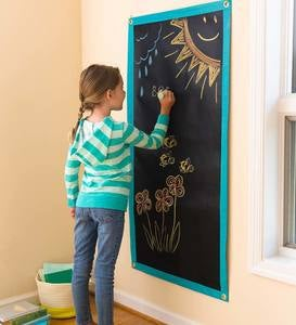 ChalkScapes Roll-Up Chalk Mat With Five Jumbo Chalks