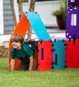 16-Piece Mighty Fantasy Fort Color Block
