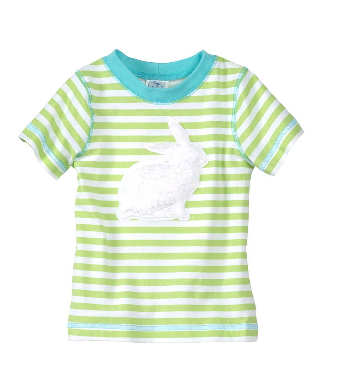Short Sleeve Striped Bunny Tee - Multi - 12M