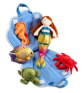 Plush Mermaid & Friends Traveling Play Set