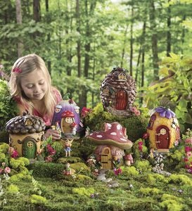 Fairy Village Special - 5 Fairy Houses and 10 Nature-Themed Fairies Set