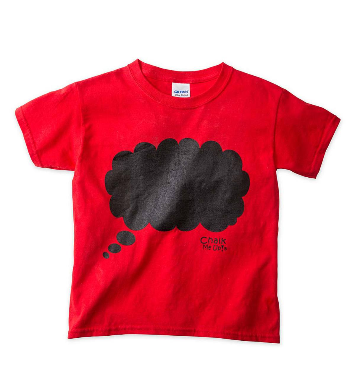 Thought Cloud Chalkboard Tee Shirt - Red - 10/12
