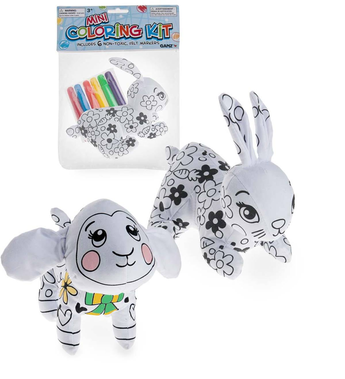 Mini Easter Cloth Bunny Coloring Kit