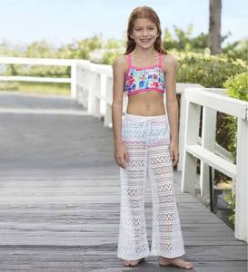 Crochet Beach Pants - White - 4