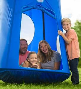 Nylon Family HugglePod HangOut with Quilted Floor Mat and LED Lights