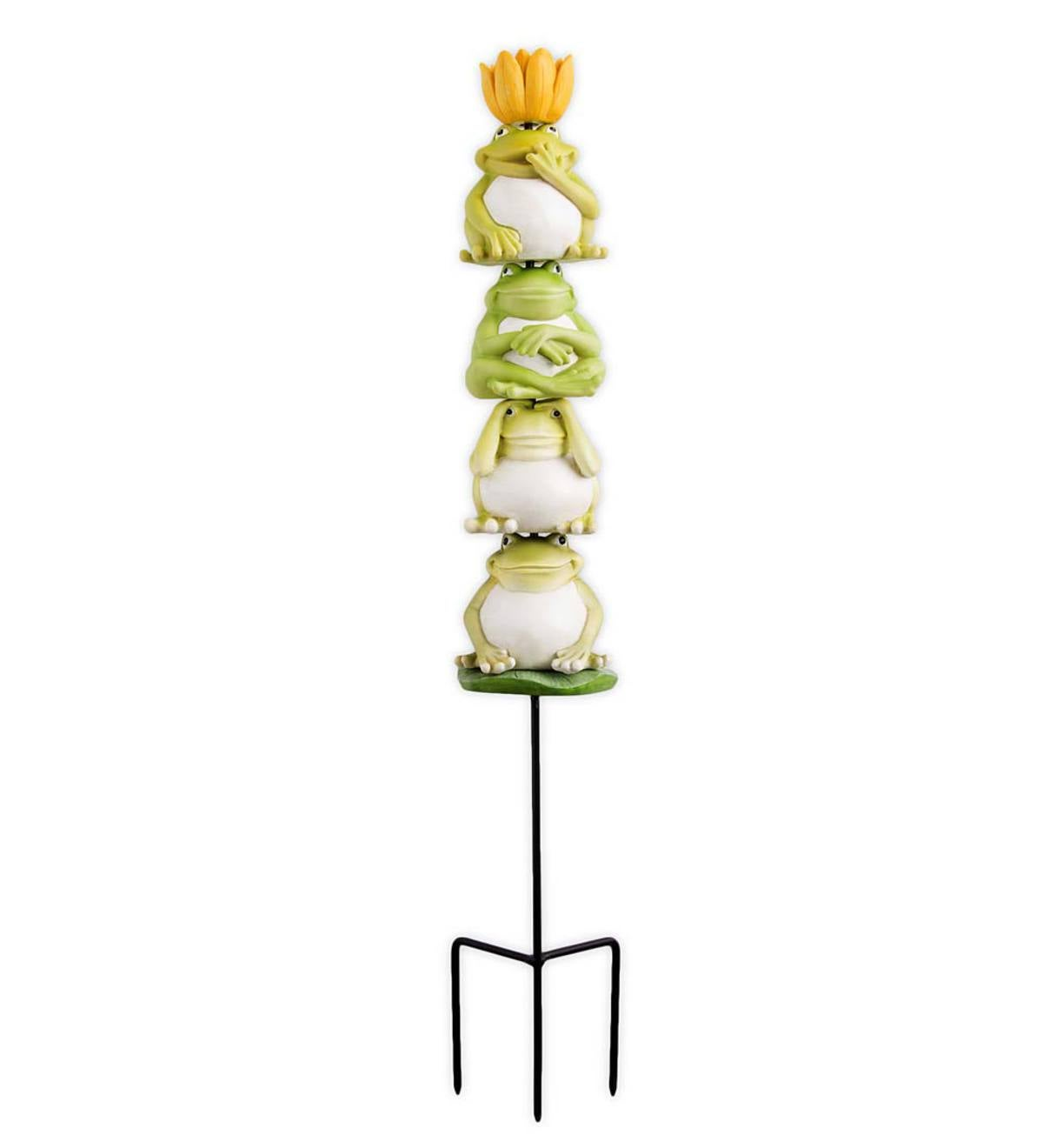 Garden Stackable Totems - Frogs
