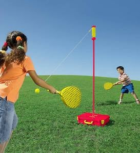 All-Surface Adjustable Classic Swingball Game With Sturdy Base