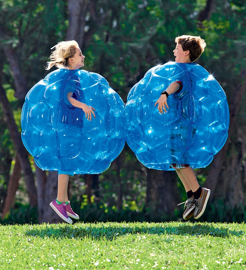 "Set of Two 36"" Blue Inflatable Buddy Bumper Balls"