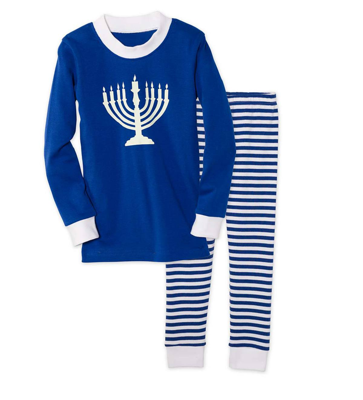 Glow-in-the-Dark Hanukkah Pajamas - Blue - 5