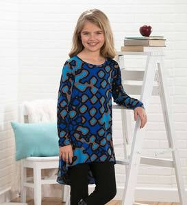 Long-Sleeve Printed Tunic