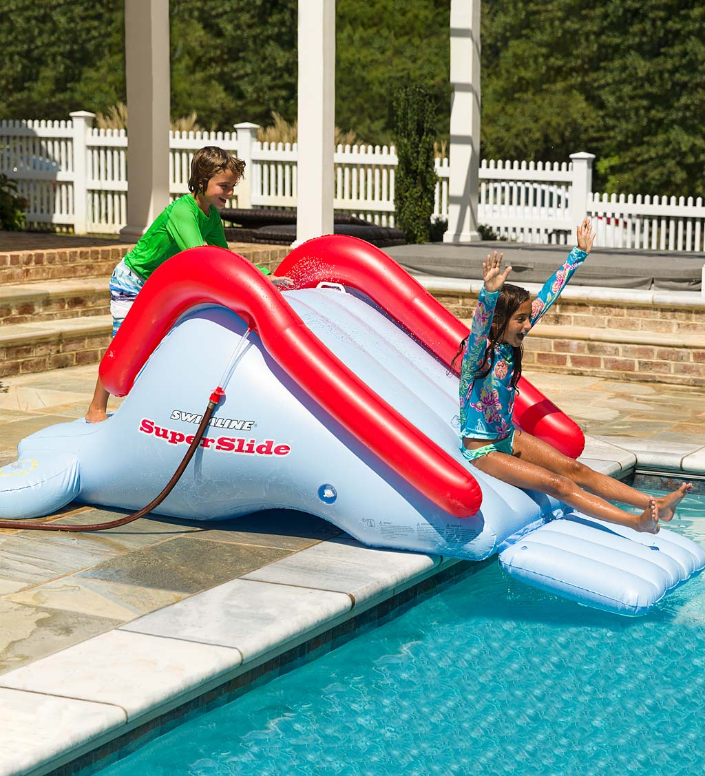 Inflatable Super Backyard Water Slide, Above Ground Pools Water Slides