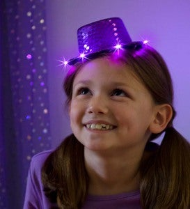 Set of 3 Light-Up Spangly Hats